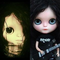 Simon and Elise are looking for home!! (Fausto & Gretchen ☆) Tags: gretchen fausto takara original liccabody black reroot mohair thecure blythe custom