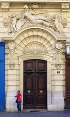 Doors of Marseille No. 1 (TablinumCarlson) Tags: europa europe frankreich france marseille sud südfrankreich bouchesdurhône provencealpescôte d'azur provence côte golfe du lion leurope méditerranée mediterranean mittelmeer leica dlux 6 tür door gate eingang portal entry street streetphotography man