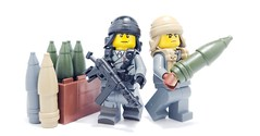Custom LEGO Artillery Shell Revealed! (BrickWarriors - Ryan) Tags: custom lego minifigure minifig ww2 wwii gun guns accessory weapons helmets war battle brick