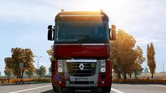 Renault Magnum (black_moloko) Tags: ets2 eurotrucksimulator2 renault magnum poland sunrise truck
