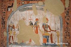 Gods and Goddesses (konde) Tags: 18thdynasty newkingdom tt69 menna stele stela tomb sheikhabdelqurna luxor thebes art ancientegypt hautamaalaus mythology tombpainting hieroglyphs anubis osiris imentet hathor rahorakty goddess