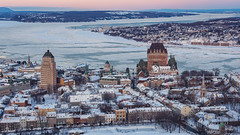 Vieux-Québec (Philippe POUVREAU) Tags: 2019 québec city vieuxquébec neige snow saintlaurent fleuve canada river château frontenac champlain tower winter hiver voyage amérique amériquedunord ville
