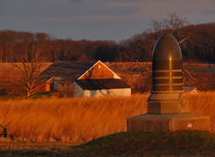 Trostle Farm & 7th New Jersey at Sunset (George Neat) Tags: buildings structures old historical hospital history stone trostle farm 7th new jersey volunteer infantry regiment excelsior field sunset gettysburg american civilwar adams county pa pennsylvania union confederate north south unitedstates america army potomac northern virginia landscape scenic battlefield national park monument memorial statue july 1 2 3 1863 george neat patriot portraits usa csa neatroadtrips