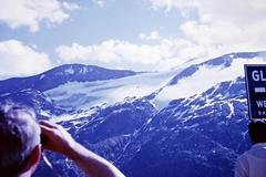 Helicopter (zeesstof) Tags: geo:lat=4707547512 geo:lon=1275119742 geotagged zeesstofsmom kodachrome film 35mmslidefilm mamiya 1969 summerholiday mountains alps austrianalps triptothegrossglockner snow snowinsummer glacier pasterzeglacier grossglockner 3798m highestmountaininaustria aircraft helicopter firstview