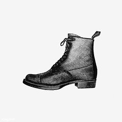 Vintage boot illustration (Free Public Domain Illustrations by rawpixel) Tags: british antique art black blackandwhite boot boots cc0 comfortable creativecommons0 decoration design designresource drawing engraving etching europe european footwear handdrawn heels icon illustrated illustration ink male man name nostalgic old oldfashioned one ornament pen psd publicdomain retro shoe sketch style symbol tattoo travel vintage walk wear worn