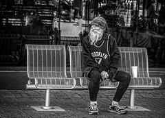 Downtown Street Man (Jim-Mooney) Tags: bw black white blackwhite blackandwhite mono monochrome monotone market streetphotography people portrait fuji xt2 fujinon50140mm candid kansascity