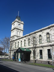 Art Gallery. Brighton (d.kevan) Tags: towers clocktowers clocks flags steps arches windows lawn brighton plants people cars decorativedetails architecturaldetails melbourne entrances baysidegallery artgalleries canopies trees