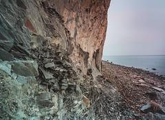 Hanklit on a misty day (Brian Dalgaard Mikkelsen) Tags: xt2 fujifilm landscape nature fjord cliff limfjorden denmark mors hanklit