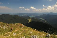 At the top (aniko e) Tags: summer tegernsee aueralm badwiessee clouds mountains hiking summit fockenstein forest view landscape outdoor nature bavaria bavarianprealps bayern bayerischevoralpen