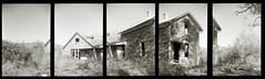 Spottswood house pentaptych (efo) Tags: spottswood virginia pentaptych film multiframe panorama bw