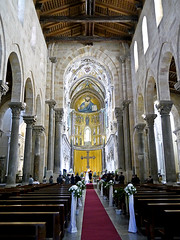 photo - Cefalu Cathedral, Cefalu, Italy (Jassy-50) Tags: photo cefalu cefalù italy cefalucathedral cefalúcathedral cathedral church unescoworldheritagesite unescoheritage unesco worldsite world whs cathedralinterior churchinterior bench wedding pew sicily
