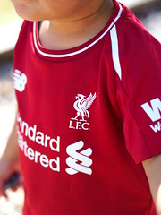 Another Merseyside derby win in the books! YNWA! (Shaloot) Tags: liverpool liverpoolfc lfc ynwa olympus red toddler