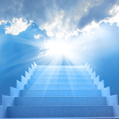 Stairs in the sky (hehui.w) Tags: stairs staircase sky stairway blue cloud heaven sun abstract alternative background belief climate climb concept design dream east end faith fantasy god grand heavenly high holy jesus life light limit medicine meditation nature paradise path religions rest rise road shine spiritual success sunbeam sunlight sunrise sunset top up way yoga ukraine