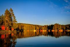 Gimmen sunset (Klas-Herman Lundgren) Tags: gagnef gimmen midsummer sverige sweden dalarna firande insjš lake midsommar sjš sommar summer water sunset solnedgœng uppsala insjö sjö solnedgång