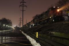 M337 at night (DonnieMarcos) Tags: railroad railway railfanning rail chicago m337 freeport freeportsub cn canadiannational