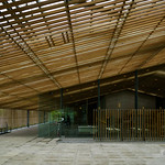 Structure of wall is Infinite wood plates, glass plates and steel frames of mainly.