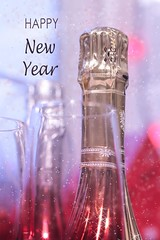 Happy New Year! (haberlea) Tags: home champagne bottle glass drink newyear 2019 celebrate celebtations sparkle red gold
