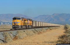 Coal Conveyor (jamesbelmont) Tags: unionpacific valmy blackbutte coal saltlakecity utah 7200west cbbvy unit ge et44ah