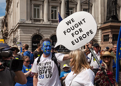 Anti Brexit (justingreen19) Tags: 2018 brexit demo eu england europe europeanunion history london nationalmarch pallmall sw1 stjamess stopbrexit antibrexit banner city crowds currentaffairs demonstrate demonstration freedomofspeech future gather gathering government justingreen19 lettering message news organisedmarch peolp people peoplesmarch photojournalism placard political politics proeuropean referendum remain remainers sign signage stayineurope typeface warning westminster