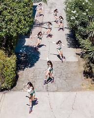 Roll with it (J Trav) Tags: rollerskating rollerskate venice california street drone green femalerollerskater multipleexposure dji mavic pro