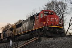 CN 5449 leading M337 (DonnieMarcos) Tags: railroad railway railfanning freighttrains freight freighttrain rail railfan chicago emd electromotive canadiannational m337 cn berwyn berwynil il