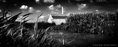 Pump House-BP81072bw-panorama (Rob Blok / BLOK PHOTO) Tags: spain travel pumphouse albufera nikon fx 1735mm blackandwhite blokphoto robblokphotography robblokfotografie