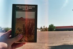 explorer's guide to the west (~filth~filler~) Tags: 05521a canon ae1 35mm film philm arizona 2009 expired riteaid phoeniz phoenix az book cactus succulent autozone deserts