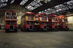 Willesden Garage (davidvines1) Tags: red doubledecker bus londontransport leyland rtl willesden