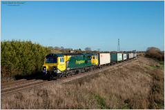 Betty Back In Favour? (Resilient741) Tags: class 70 flim freightliner trains intermodal heavy haul freight train diesel loco locomotive 70002 ge general electric ugly betty powerhaul gren team br british rail railway pole photo photography leicestershire melton mowbray 4m81