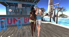 Vacation ☼ (ღ Sɑrɑɑh Drɑgoone ღ) Tags: summer secondlife sl pic photo couple sexy jamaica beach maitreya lelutka dossier astralia empire catwa signature love bikini outfit sun pier bar vacation game