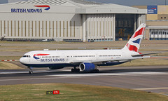 Farewell (Treflyn) Tags: last weekend british airways retired 767 fleet after 28 years service boeing 767300 763 gbzhc takeoff roll london heathrow september flight stockholm arlanda arn lhr airport farewell