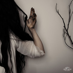 touched your soul (emilia.bassin) Tags: dark fantasy gothic black blackhair conceptional fineart dread blackandwhite