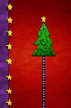 Simply Merry (Cat Girl 007) Tags: simplymerry christmas colorful digitalart background christmastree concept design holiday seasonal shaped star symbol tree red green purple jeannebessette whimsical tistheseason
