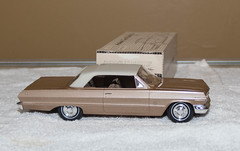 1963 Chevrolet Impala SS Promo Model Car -  Adobe Beige over Saddle Tan Metallic (coconv) Tags: car cars vintage auto automobile vehicles vehicle autos photo photos photograph photographs automobiles antique picture pictures image images collectible old collectors classic promotional dealership plastic scale promo model smp amt mpc johan revell hubley 125 124 banthrico sample kit coupe history historical dealer toy miniature 125th 1963 chevrolet impala ss adobe beige over saddle tan metallic sport super sports chevy 63