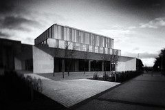 the Confucius institute UCD ~ HSS (Wendy:) Tags: ucd belfield tiltshift hss confucius chinese architecture nik silvereffects