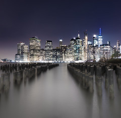 Misty Manhattan (Eric Steele Photography) Tags: manhattan nyc newyorkcity cityscape city landscape foggy nighttime nightscape lights nikon d7200 ericsteele photography