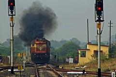 Nandigram Exp. (B V Ashok) Tags: nandigram express cr lingti lnt mumbainagpur cstmngp 11401 scr gtl guntakal wdg3a 14892 alco shakti flickrtravelaward
