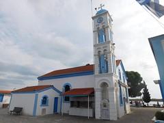The Church of Agios Nikolaos (Spotter_CY) Tags: ἑλληνορθόδοξη ἑκκλησία greek orthodox church monastery porto lagos xanthi greece hellas ελλάδα white blue europe cross