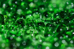 Beads And Bokeh (Mark Wasteney) Tags: macromondays green greens beads abstract macro tiny closeup bokeh dof depthoffield