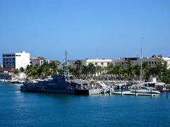 Isla Mujeres Harbour (knightbefore_99) Tags: mexico mexican isla mujeres azul blue sea ocean caribbean quintanaroo boat ship harbour bleu palm tree navy uxmal island