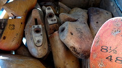 If The Shoe Fits (goodeye03 (Rich)) Tags: shoemolds shoe shoes feet womensfeet sizes wood wooden craft cobbler old sony ziess