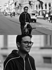 [La Mia Città][Pedala] (Urca) Tags: milano italia 2018 bicicletta pedalare ciclista ritrattostradale portrait dittico bike nikondigitale séta biancoenero blackandwhite bn bw 117217