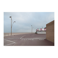 Coffee Burgers Whippy (John Pettigrew) Tags: lines tamron d750 2470mm dull topographics streetlamps ordinary space empty nikon markings desolate yarmouth mundane beach great banal imanoot walls car observations deserted park angles johnpettigrew documenting seaside