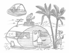 Gonadians (rod1691) Tags: myart art sketchbook bw scfi grey concept custom car retro space hotrod drawing pencil h2 hb original story fantasy funny tale automotive illustration greyscale moonpies sketch sexy voodoo