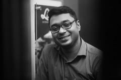 Before The Door Closes (N A Y E E M) Tags: farhaan aashiqdj ash friend portrait smile light availablelight indoors elevator baikalbar radissonblu hotel