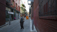 Red Alley (luminous__photography) Tags: streetphotography sanfrancisco california cityofsanfrancisco cityscape chinatown sfchinatown streetart alleys alleyways urbanphotography urban urbanliving downtown red portrait
