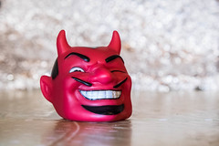 el diablo (SCRIBE photography) Tags: uk england dorset christchurch toy devil demon diablo satan bokeh portrait evil fun humour smile