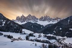 Fury (Sinclair's) Tags: santa maddalena dolomites sunrise mountains odle funes val gardena st magdalena italy landscape