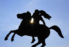 Brave The Sun (Anna-Nemesis) Tags: greece thessaloniki hellas alexander ancient monument horse statue sun