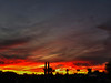 Darkness, Darkness (oybay©) Tags: arizona sunset monsoon cloudy clouds saguaro cactus silhouette color colors nature natural orange yellow red purple outdoor sky dusk cloud city tree grass